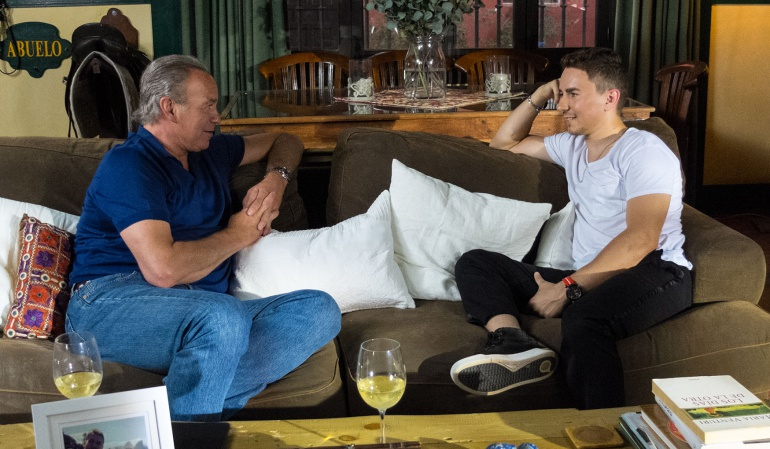 Bertín Osborne con Jorge Lorenzo en 'Mi casa es la tuya'