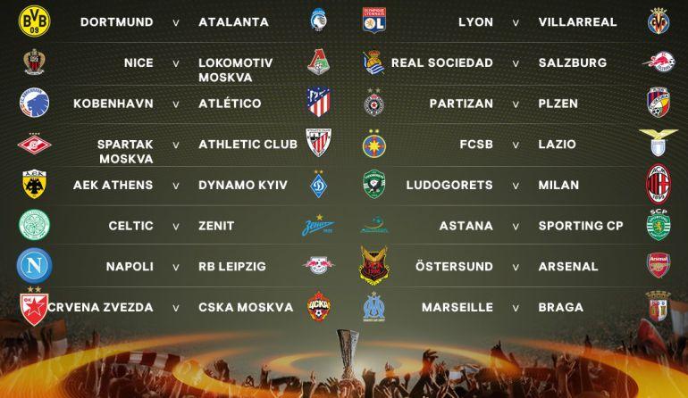 Los Emparejamientos Deciseisavos De Final De La Europa League