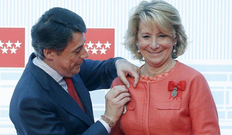 Los expresidentes madrileños Ignacio González y Esperanza Aguirre.