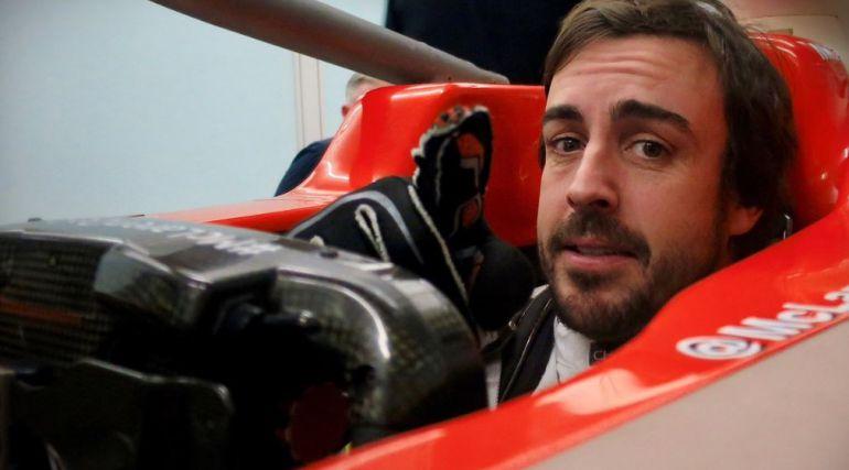 Fernando Alonso, en su monoplaza para la temporada 2018.