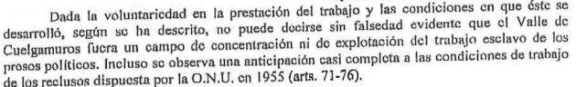 Extracto del escrito de Anselmo Álvarez, abad del Valle de los Caídos hasta 2014