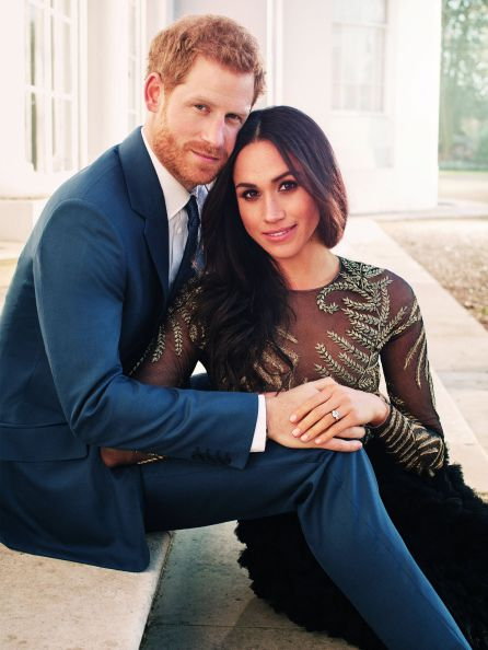 Fotografía oficial del compromiso del príncipe Enrique de Inglaterra y de la actriz estadounidense Meghan Markle.