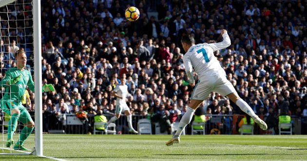 El gol anulado a Cristiano en el arranque del partido.