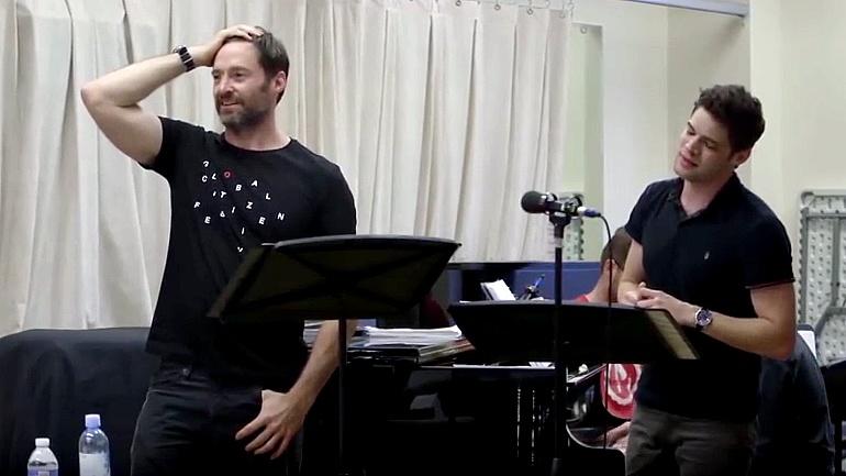 Hugh Jackman durante el ensayo de 'El Gran Showman'
