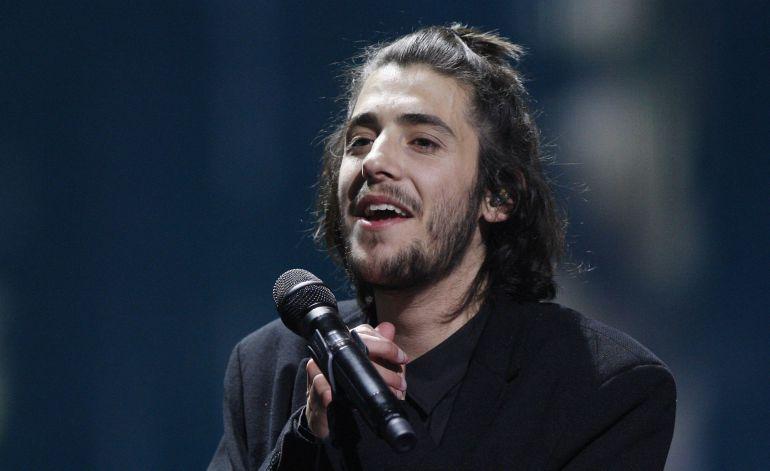 Salvador Sobral, durante su actuación en el Festival de Eurovisión que ganó el 13 de mayo de este año.