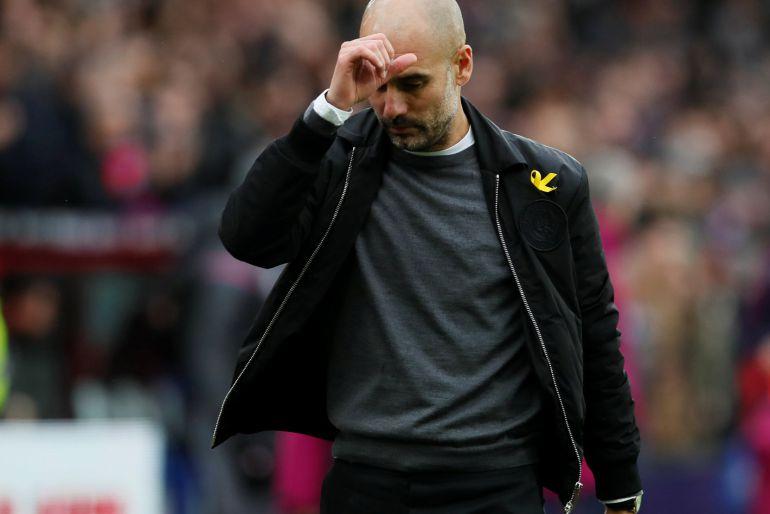 Pep Guardiola, tras el partido entre el Crystal Palace y el Manchester City (0-0).