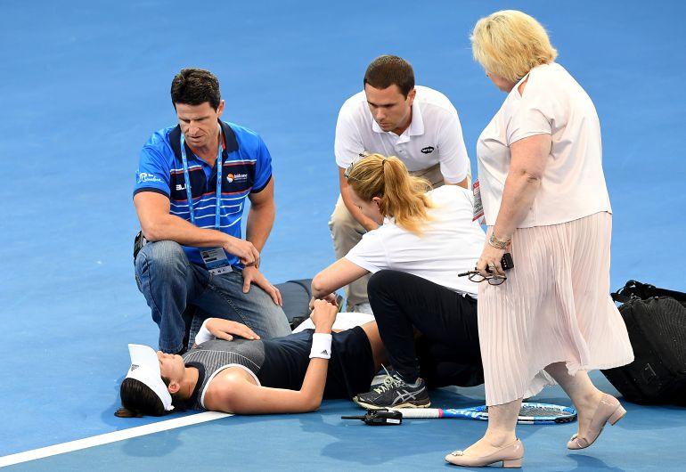 Garbiñe Muguruza, lesionada en el torneo de Brisbane