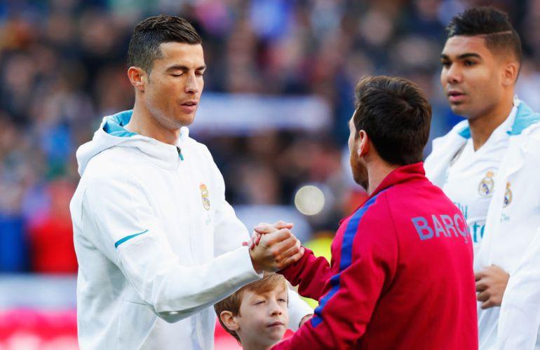 Messi y Cristiano Ronaldo durante el último Clásico