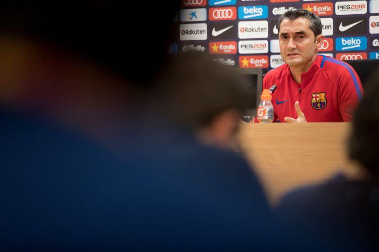 Valverde, en la sala de prensa