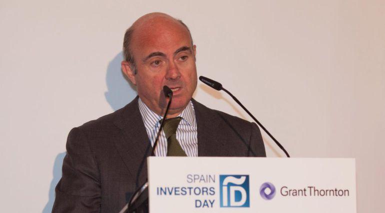 El ministro Luis de Guindos, en la edición de 2017.