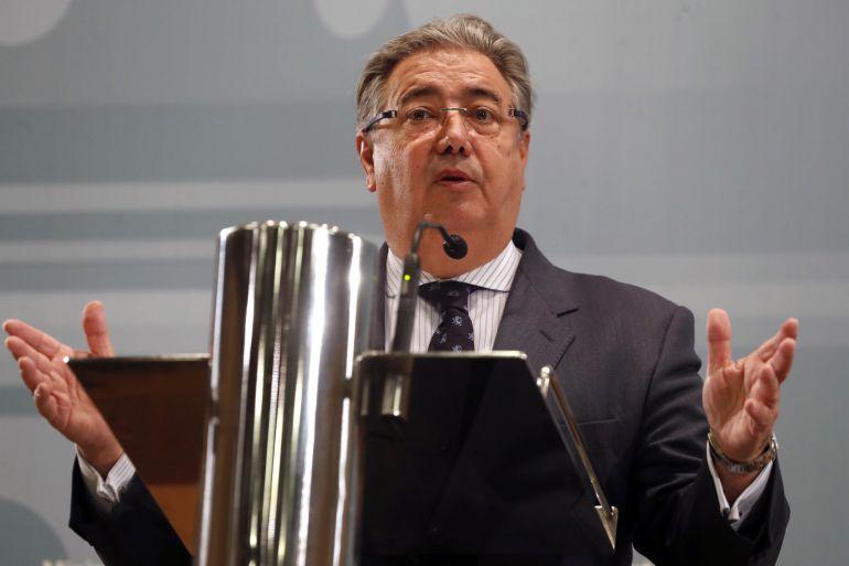 El ministro del Interior, Juan Ignacio Zoido, durante una rueda de prensa