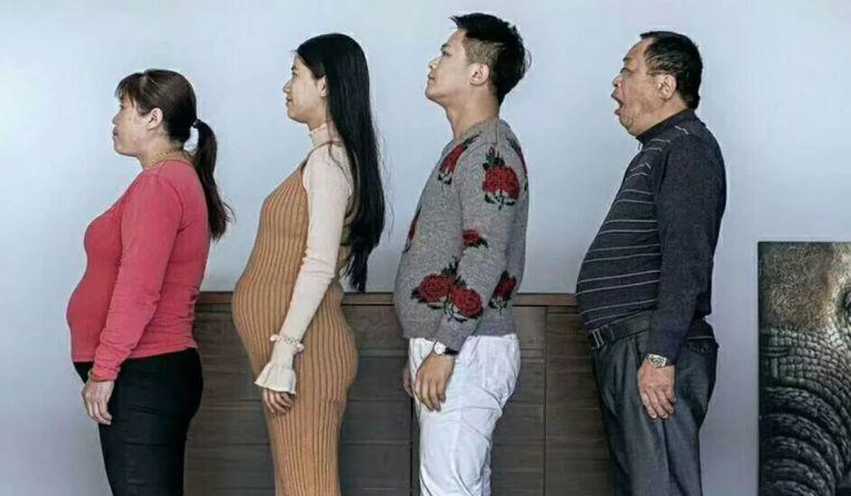 El fotógrafo muestra la evolución de su familia.