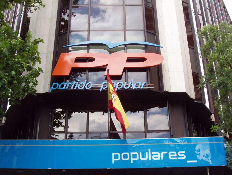 Sede del PP y edl PP de Madrid en la calle Génova.