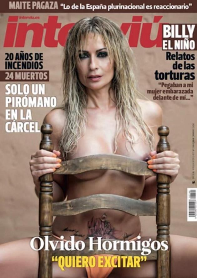 La portada de Olvido Hormigos en Interviú