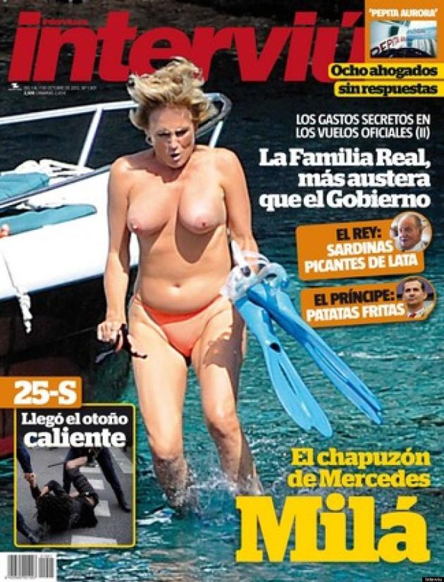 La portada de Mercedes Mila en Interviú
