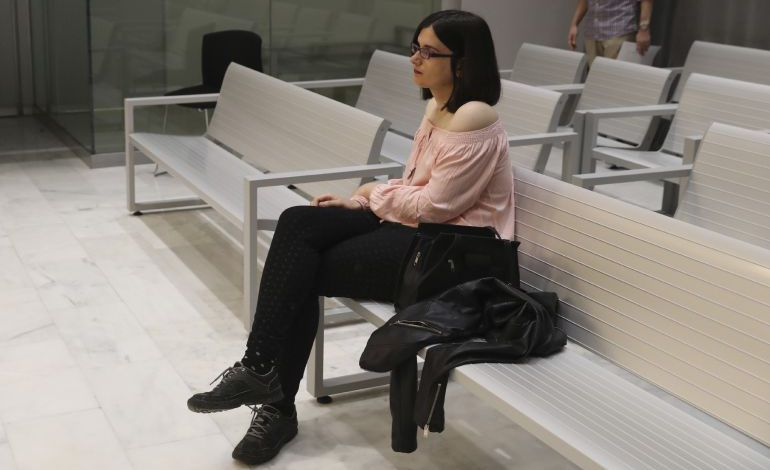 La acusada durante el juicio en la Audiencia Nacional