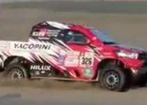 Un piloto logra en el Dakar una maniobra nunca vista