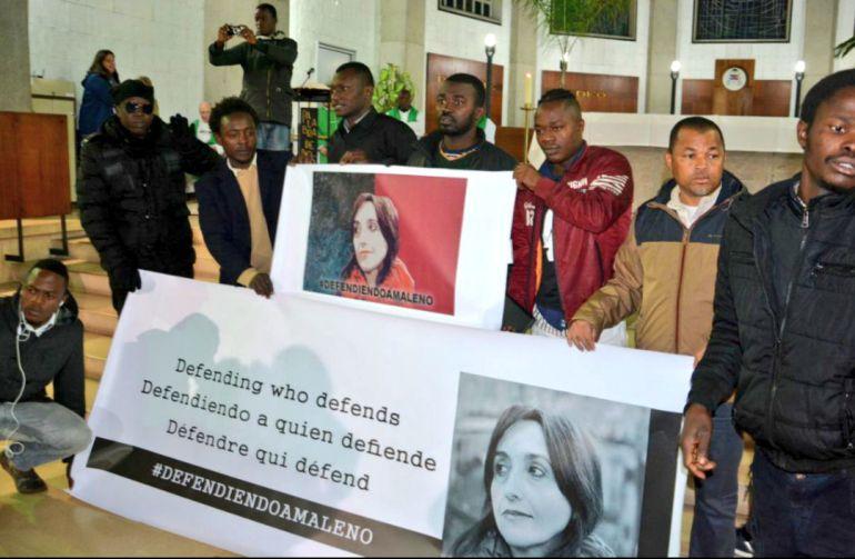 Tuit publicado en su perfil por la activista española: 'Defendiendo a quien defiende' #DefendiendoaMaleno