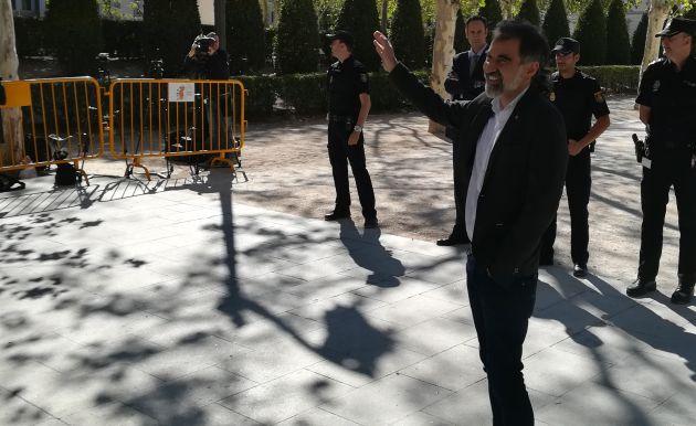 Jordi Cuixart tras declarar por primera vez en la Audiencia Nacional