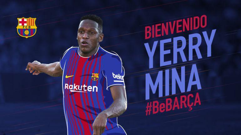 El Barça da la bienvenia a Yerry Mina