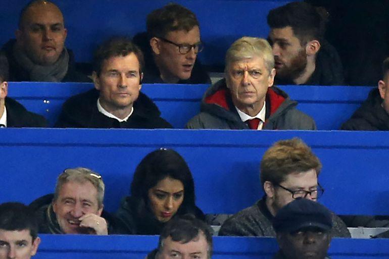 Wenger ve el Chelsea-Arsenal desde la grada