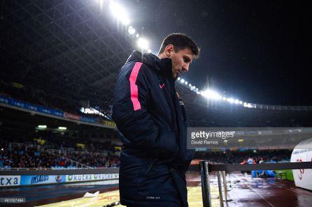 Leo Messi en el partido ante la Real Sociedad de 2015
