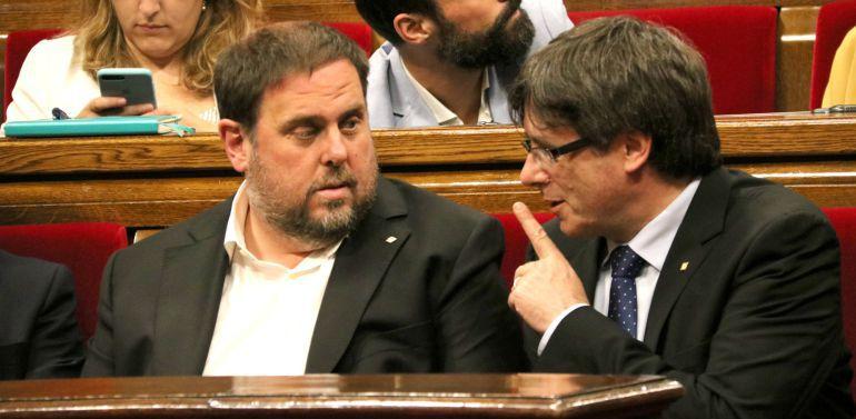 Junqueras y Puigdemont en una imagen de archivo