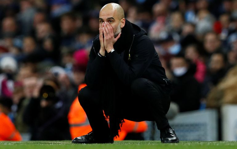 El técnico del City Pep Guardiola.