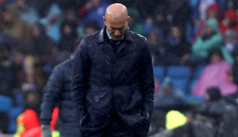Zinedine Zidane, durante el partido ante el Villarreal
