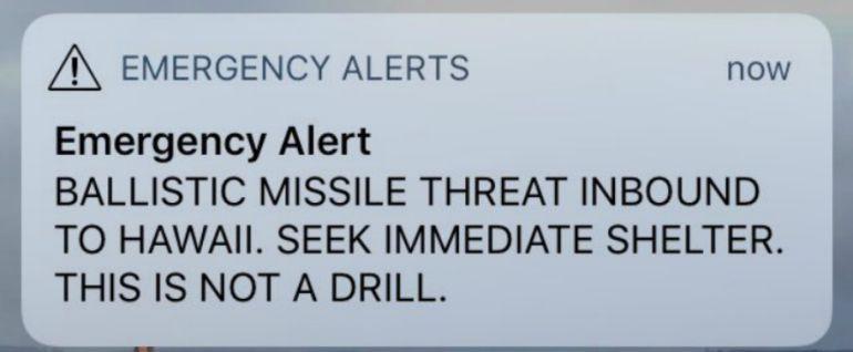 """Minutos de caos en Hawaii por una alerta que avisaba de """"misiles balísticos"""""""