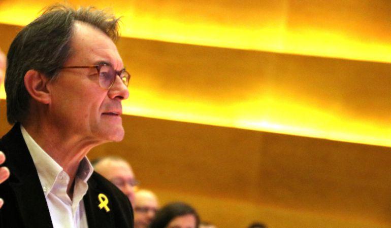 El expresidente del PDeCAt, Artur Mas, durante el Consell Nacional.