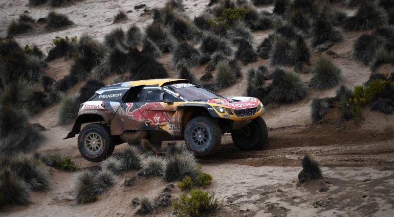 Stephane Peterhansel, durante la octava etapa del Rally Dakar