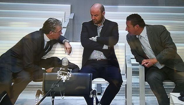 Granados, Talamino y Caro Vinagre durante el juicio del chivatazo