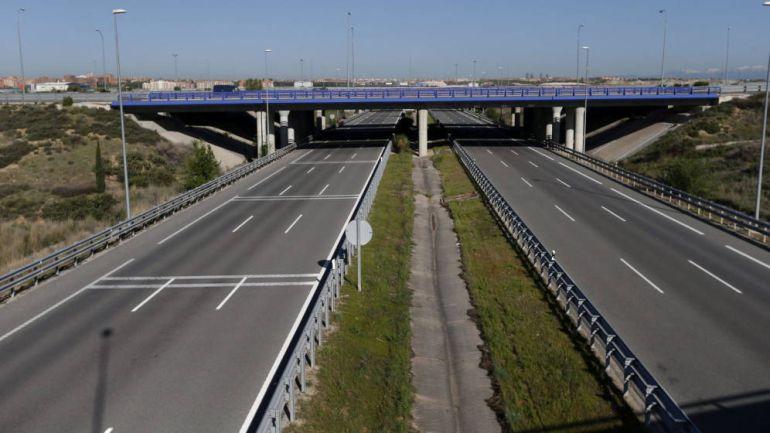 Imagen de una de las autopistas radiales de Madrid, en quiebra