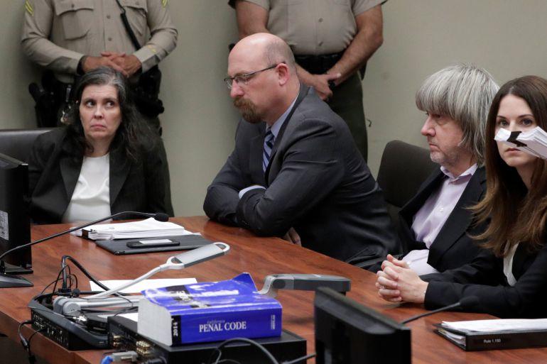 David Turpin y Louise Turpin, ante la justicia de Riverside, en California.
