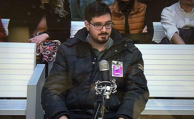 El acusado durante el juicio en la Audiencia Nacional