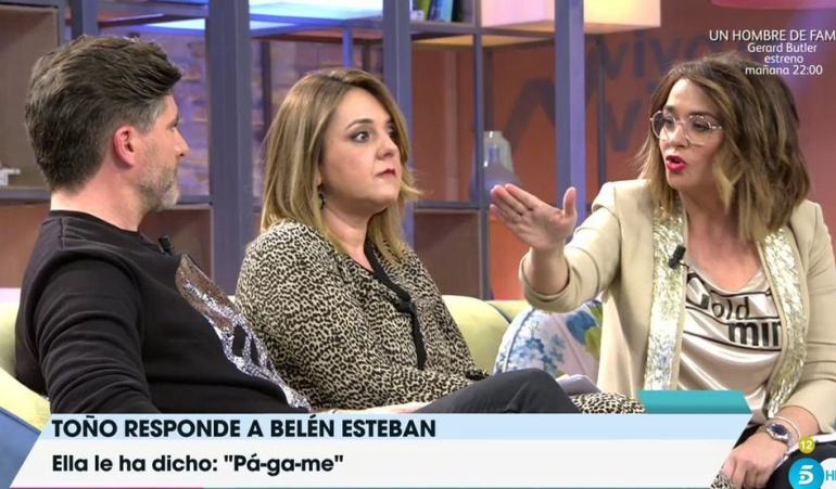 "Toñi Moreno, a Toño Sanchís: """"A mi programa no vengas a mentir"""""
