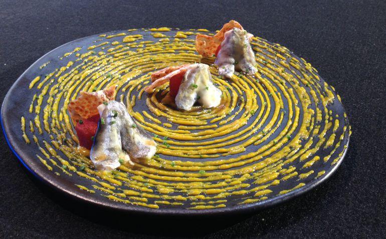 Elena Arzak le dedicó estas 'Cocochas al plato' a Paul Bocuse y Caius Apicius.