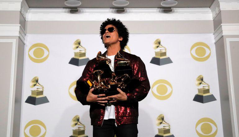 FOTOGALERÍA | Bruno Mars triunfa en los Grammy