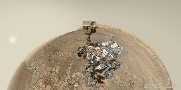 El selfie tomado por Curiosity.