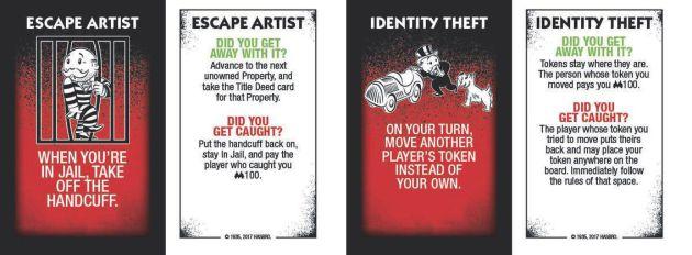 Algunas de las cartas del juego.