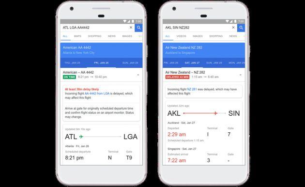 Google predice el retraso de tu vuelo.