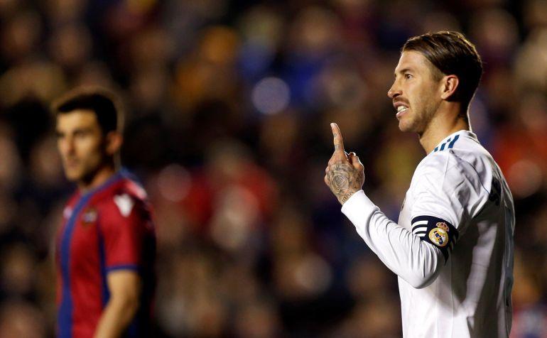 Sergio Ramos, durante el partido contra el Levante