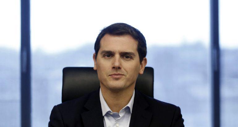 El presidente de Ciudadanos, Albert Rivera, durante la reunión del grupo parlamentario de Ciudadanos en el Congreso de los Diputados