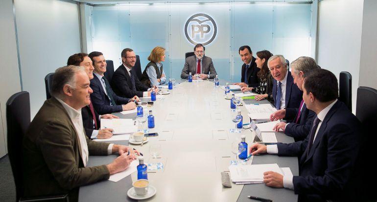 Mariano Rajoy preside la reunión del Comité de Dirección del Partido Popular en la sede de Génova en Madrid