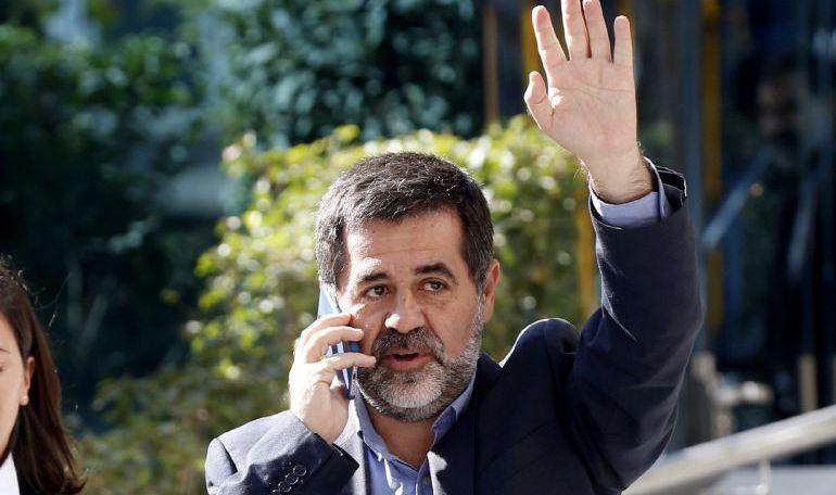 Jordi Sànchez tras una de sus comparecencias en la Audiencia Nacional