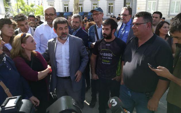 Jordi Sànchez tras salir de la Audiencia Nacional en octubre