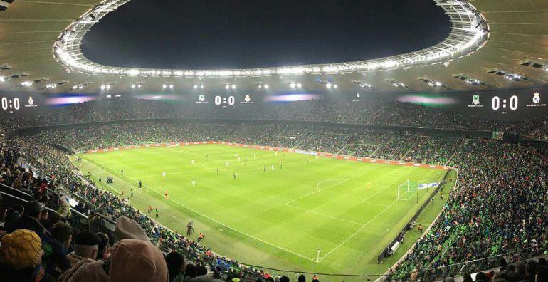 El estadio del FC Krasnodar, con más de 32.000 personas para ver un partido de octavos de final de la Youth League
