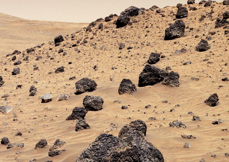 La superficie del planeta rojo