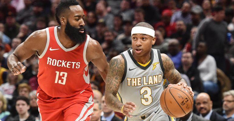 Isaiah Thomas, durante un partido de los Cavaliers ante los Rockets